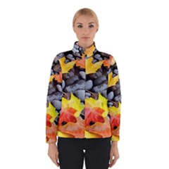 Colorful Leaves Stones Winterwear by AnjaniArt
