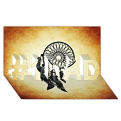 Dream Catcher #1 Dad 3d Greeting Card (8x4)