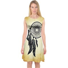 Dream Catcher Capsleeve Midi Dress by AnjaniArt