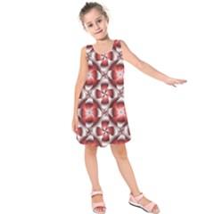 Floral Optical Illusion Kids  Sleeveless Dress
