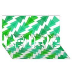 Geometric Art Pattern Believe 3d Greeting Card (8x4) by AnjaniArt