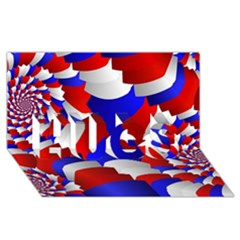 Happy Memorial Day Hugs 3d Greeting Card (8x4)