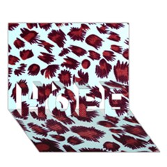 Jaguar Textile Background Hope 3d Greeting Card (7x5) by AnjaniArt