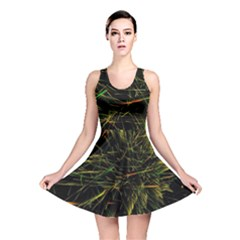 Magic Art Particle Texture Reversible Skater Dress by AnjaniArt