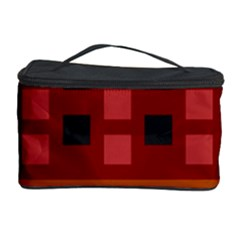 Red Aztec Cosmetic Storage Case by AnjaniArt