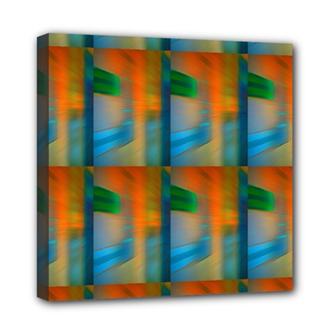 Wall Of Colour Duplication Mini Canvas 8  X 8  by AnjaniArt