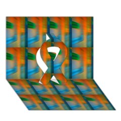 Wall Of Colour Duplication Ribbon 3d Greeting Card (7x5) by AnjaniArt