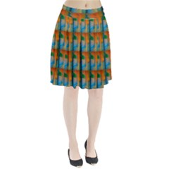 Wall Of Colour Duplication Pleated Skirt by AnjaniArt