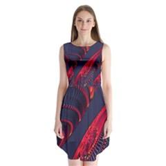 Fractal Fractal Art Digital Art Sleeveless Chiffon Dress   by Zeze
