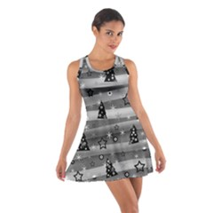 Gray Xmas Magic Cotton Racerback Dress by Valentinaart