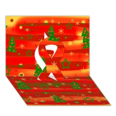 Xmas Magic Ribbon 3d Greeting Card (7x5) by Valentinaart