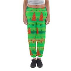 Green Xmas Magic Women s Jogger Sweatpants by Valentinaart