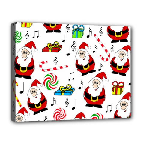 Xmas Song Canvas 14  X 11  by Valentinaart