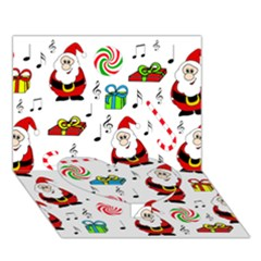 Xmas Song Heart Bottom 3d Greeting Card (7x5) by Valentinaart