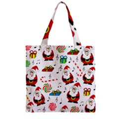 Xmas Song Zipper Grocery Tote Bag by Valentinaart