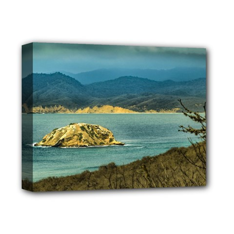 Mountains And Sea At Machalilla National Park Ecuador Deluxe Canvas 14  X 11  by dflcprints