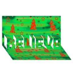 Xmas Magical Design Believe 3d Greeting Card (8x4)