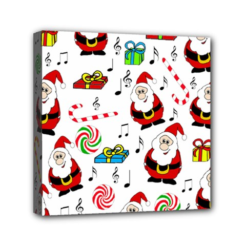 Xmas Song Mini Canvas 6  X 6  by Valentinaart