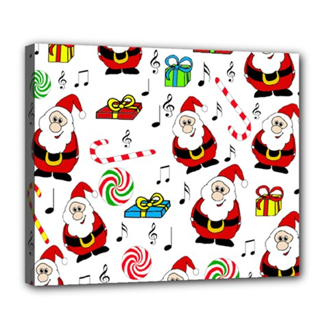 Xmas Song Deluxe Canvas 24  X 20   by Valentinaart