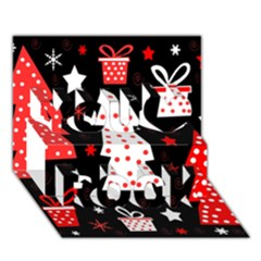 Red Playful Xmas You Rock 3d Greeting Card (7x5) by Valentinaart