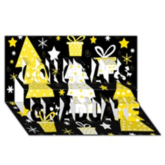 Yellow Playful Xmas Congrats Graduate 3d Greeting Card (8x4) by Valentinaart