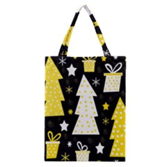 Yellow Playful Xmas Classic Tote Bag by Valentinaart
