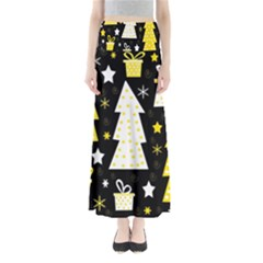 Yellow Playful Xmas Maxi Skirts by Valentinaart