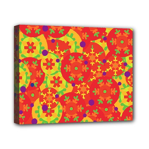 Orange Design Canvas 10  X 8  by Valentinaart