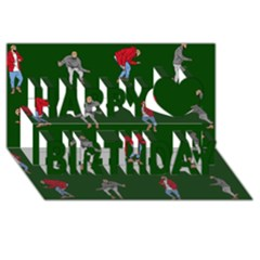 Drake Ugly Holiday Christmas 2 Happy Birthday 3d Greeting Card (8x4) by Onesevenart