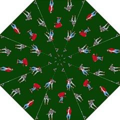 Drake Ugly Holiday Christmas 2 Hook Handle Umbrellas (large) by Onesevenart