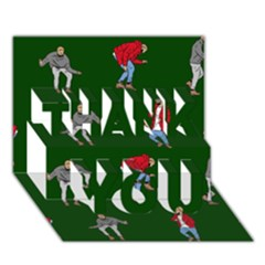 Drake Ugly Holiday Christmas 2 Thank You 3d Greeting Card (7x5) by Onesevenart