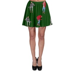 Drake Ugly Holiday Christmas 2 Skater Skirt by Onesevenart