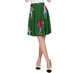 Drake Ugly Holiday Christmas 2 A Line Skirt by Onesevenart