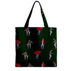Drake Ugly Holiday Christmas 2 Zipper Grocery Tote Bag by Onesevenart