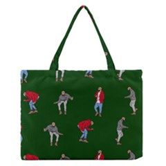 Drake Ugly Holiday Christmas 2 Medium Zipper Tote Bag by Onesevenart