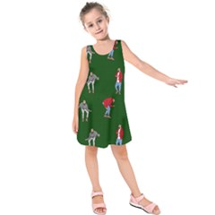Drake Ugly Holiday Christmas 2 Kids  Sleeveless Dress by Onesevenart