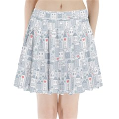 Houses Pattern Pleated Mini Skirt by Mishacat