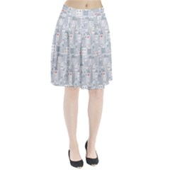 Houses Pattern Pleated Skirt by Mishacat