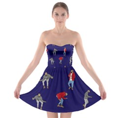 Drake Ugly Holiday Christmas Strapless Bra Top Dress by Onesevenart