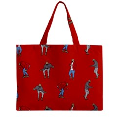 Drake Ugly Holiday Christmas   Zipper Mini Tote Bag by Onesevenart