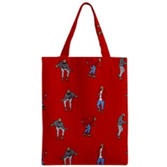 Drake Ugly Holiday Christmas   Zipper Classic Tote Bag by Onesevenart