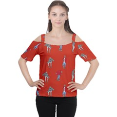 Drake Ugly Holiday Christmas   Women s Cutout Shoulder Tee by Onesevenart
