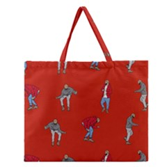 Drake Ugly Holiday Christmas   Zipper Large Tote Bag by Onesevenart