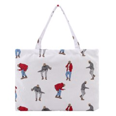 Drake Ugly Holiday Christmas Medium Tote Bag by Onesevenart