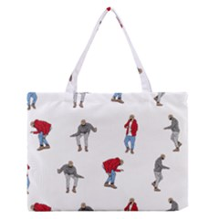 Drake Ugly Holiday Christmas Medium Zipper Tote Bag by Onesevenart