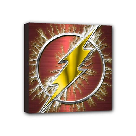 Flash Flashy Logo Mini Canvas 4  X 4  by Onesevenart