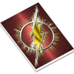 Flash Flashy Logo Large Memo Pads by Onesevenart