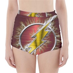 Flash Flashy Logo High Waisted Bikini Bottoms by Onesevenart