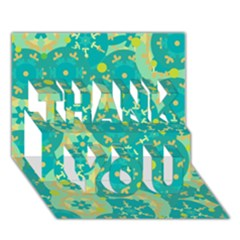 Cyan Design Thank You 3d Greeting Card (7x5)