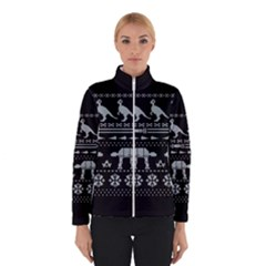 Holiday Party Attire Ugly Christmas Black Background Winterwear by Onesevenart